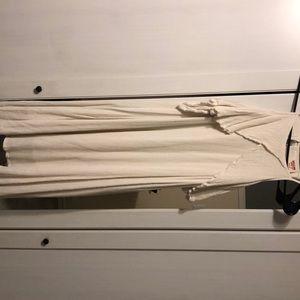 Cream Colored Cold Shoulder Dress